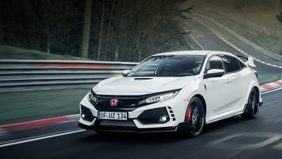 Honda Civic Type R обошла более мощных конкурентов на трассе в Нюрбургринге